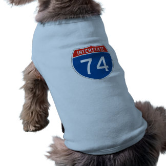 Interstate Sign 74 Dog T Shirt