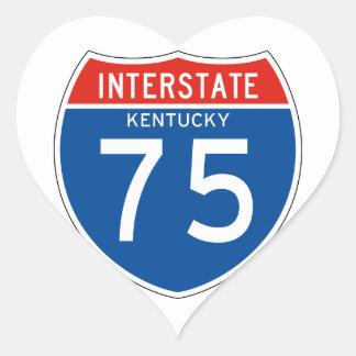 Interstate Sign 75 - Kentucky Heart Sticker