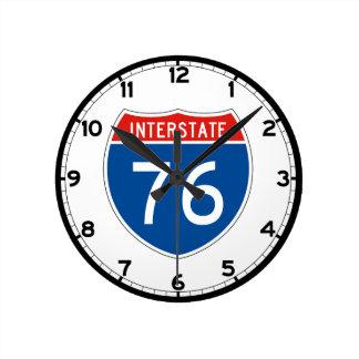 Interstate Sign 76 - New Jersey Round Clock