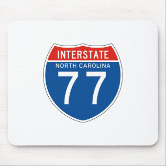Interstate Sign 77 - North Carolina Mouse Pad
