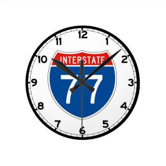 Interstate Sign 77 - West Virginia Round Clock
