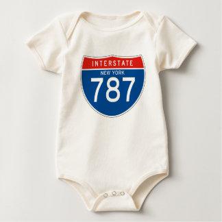 Interstate Sign 787 - New York Baby Bodysuit