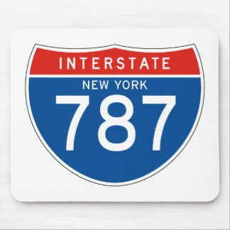 Interstate Sign 787 - New York Mouse Pad