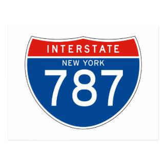 Interstate Sign 787 - New York Postcard