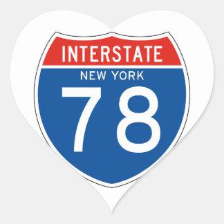 Interstate Sign 78 - New York Heart Sticker