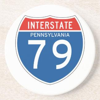 Interstate Sign 79 - Pennsylvania Beverage Coaster