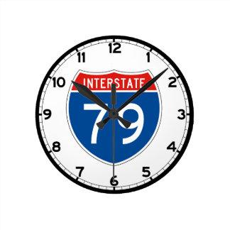 Interstate Sign 79 - Pennsylvania Round Clock