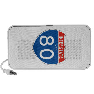 Interstate Sign 80 - Iowa iPod Speaker