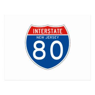 Interstate Sign 80 - New Jersey Postcard