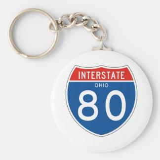 Interstate Sign 80 - Ohio Keychain