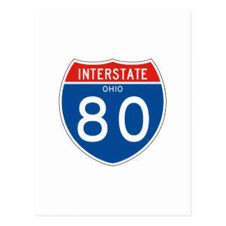 Interstate Sign 80 - Ohio Postcard
