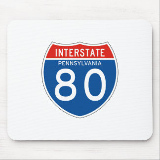 Interstate Sign 80 - Pennsylvania Mouse Pad