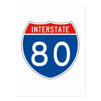 Interstate Sign 80 Postcard