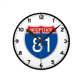 Interstate Sign 81 - Tennessee Round Clock