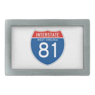 Interstate Sign 81 - West Virginia Belt Buckle
