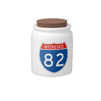 Interstate Sign 82 Candy Dish