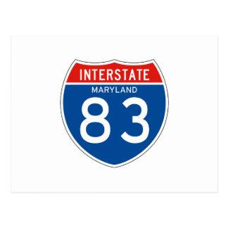 Interstate Sign 83 - Maryland Postcard