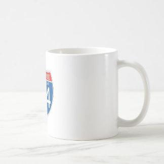 Interstate Sign 84 - Connecticut Coffee Mug
