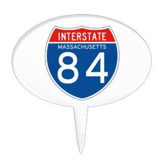 Interstate Sign 84 - Massachusetts Cake Picks