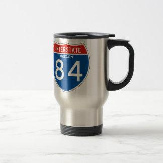 Interstate Sign 84 - Oregon Travel Mug