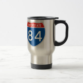 Interstate Sign 84 Travel Mug