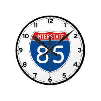 Interstate Sign 85 - South Carolina Round Clock