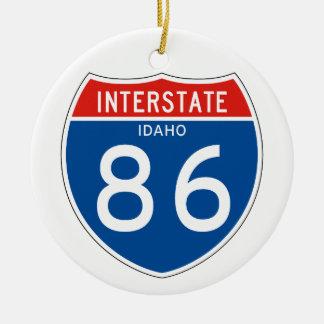 Interstate Sign 86 - Idaho Ceramic Ornament