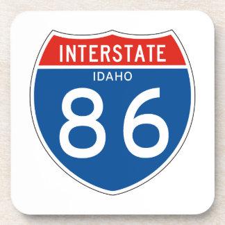 Interstate Sign 86 - Idaho Beverage Coaster
