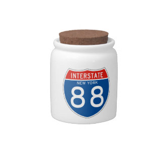 Interstate Sign 88 - New York Candy Dishes