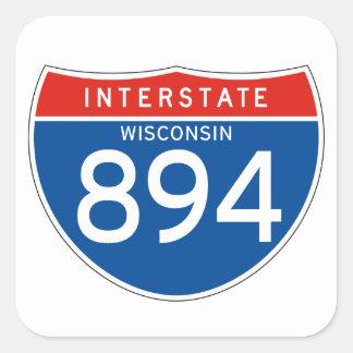 Interstate Sign 894 - Wisconsin Square Sticker