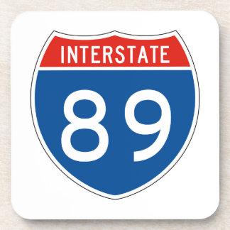 Interstate Sign 89 Drink Coaster