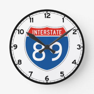Interstate Sign 89 - New Hampshire Round Clock