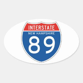Interstate Sign 89 - New Hampshire Sticker