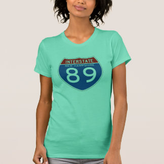 Interstate Sign 89 - New Hampshire T-Shirt