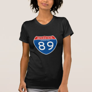 Interstate Sign 89 - Vermont T-Shirt