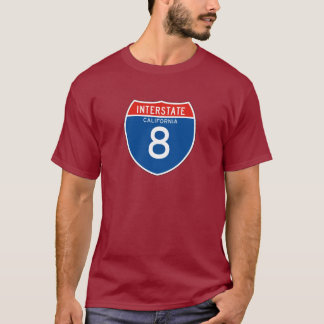 Interstate Sign 8 - Californian T-Shirt