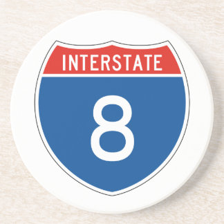 Interstate Sign 8 Drink Coasters