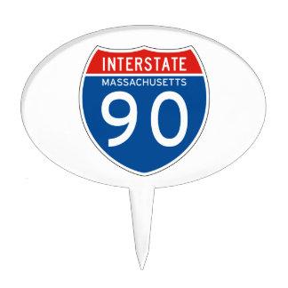 Interstate Sign 90 - Massachusetts Cake Pick