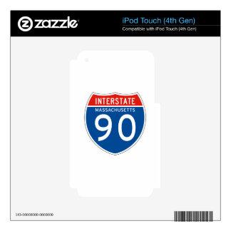Interstate Sign 90 - Massachusetts iPod Touch 4G Skin