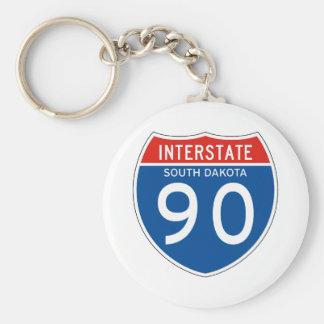 Interstate Sign 90 - South Dakota Key Chains