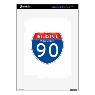 Interstate Sign 90 - Wisconsin Decals For iPad 3