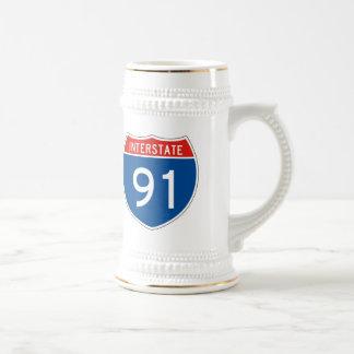 Interstate Sign 91 Beer Stein