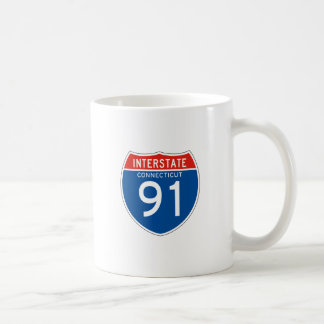 Interstate Sign 91 - Connecticut Coffee Mug