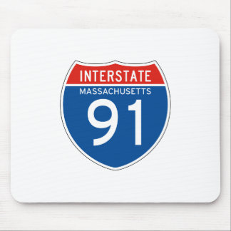 Interstate Sign 91 - Massachusetts Mouse Pad