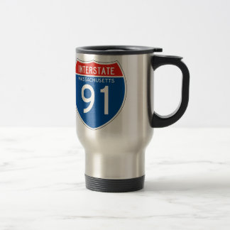 Interstate Sign 91 - Massachusetts Travel Mug