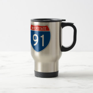 Interstate Sign 91 Travel Mug