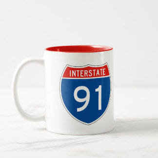 Interstate Sign 91 Two-Tone Coffee Mug