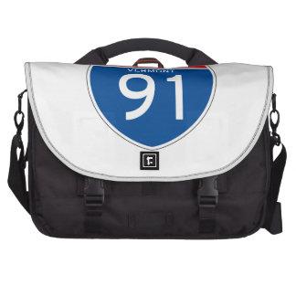 Interstate Sign 91 - Vermont Laptop Computer Bag