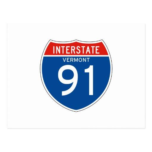 Interstate Sign 91 Vermont Postcard Zazzle