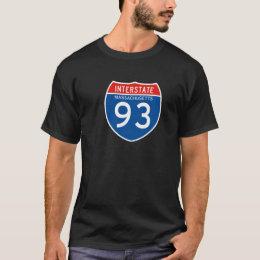 Interstate Sign 93 - Massachusetts T-Shirt